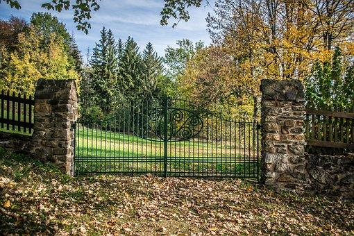 Gate, Stone, Architecture, Old, Historically, Village