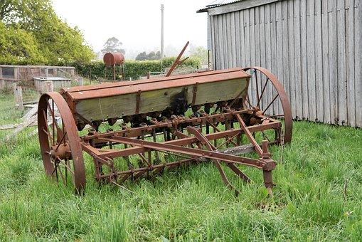 Header, Farm Tool, Farm Machinery, Agricultural, Old