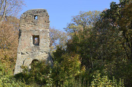 Burgruine, Ruin, Castle, Middle Ages, Masonry, Old
