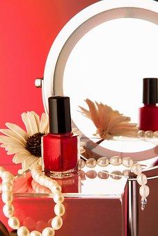 Nail Varnish, Beauty, Pearl Necklace, Make-up Mirror