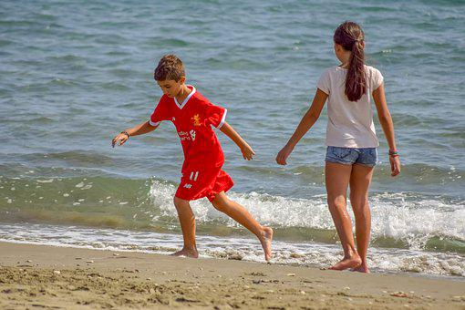 Children, Kids, People, Beach, Sea, Boy, Childhood