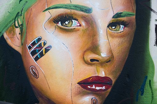 Graffiti, Paint, Drawing, Wall, Woman, Portrait, Art