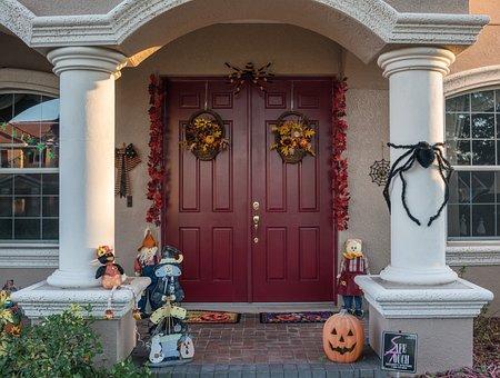 Halloween, Decorations, Outdoor, Pumpkin, Spider