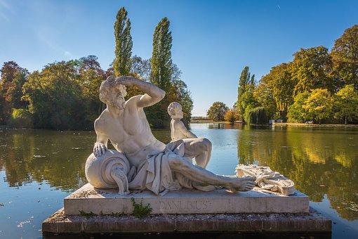 Schwetzingen, Schlossgarten, Castle Park, River God