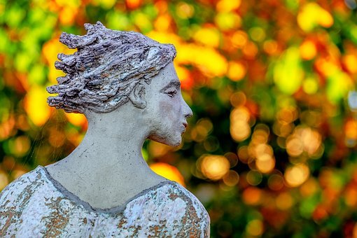 Sculpture, Figure, Female, Statue, Mysteriously