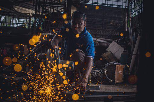 Welding, Working, Iron, Work, Welder, Steel, Workshop
