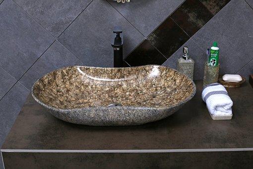 Stone Textured Basin, Wash Basin, Ceramic Basin, China