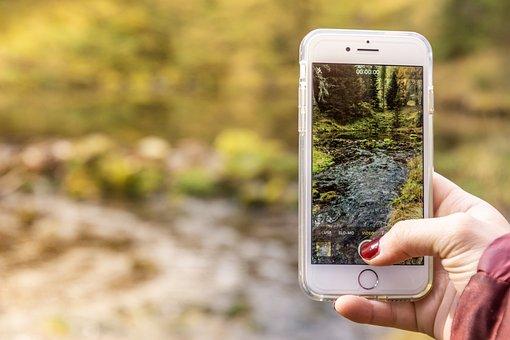 Smartphone, Photo, Nature, Hand, Water, Technology