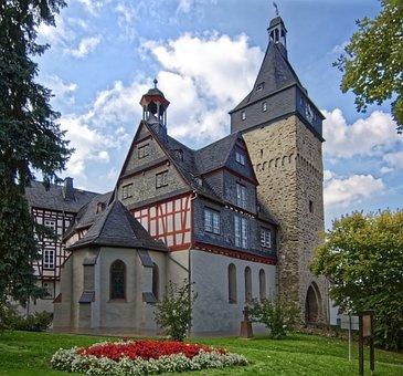 Germany, Bad Camberg, City Gate, Historic Center, Truss