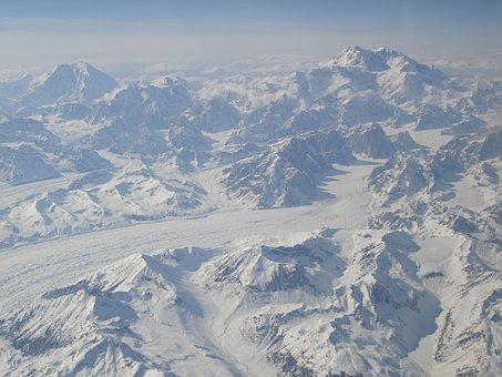 Mountains, Alaska, Usa, Panorama, Snow, Denali, Scenery