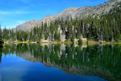 Lake, Mountains, Nature, Landscape, Water, Sky, Alpine
