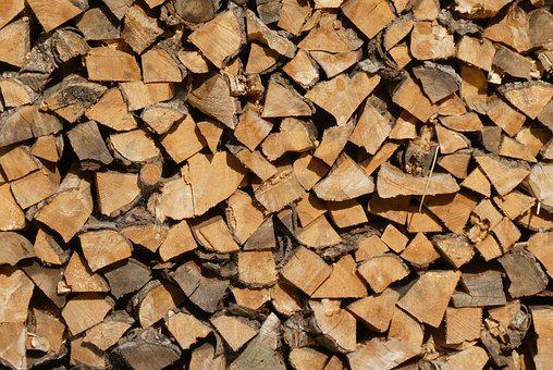 Wood Pile, Wood, Firewood, Stack, Trunks, Stacked