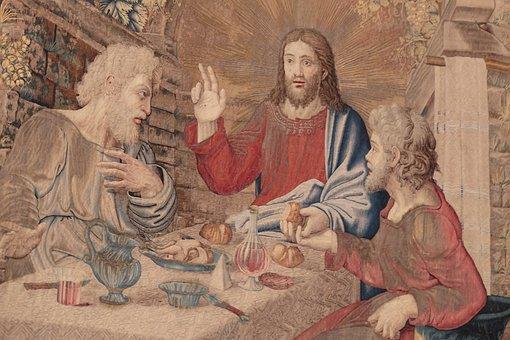 Dinner, Jesus, Emmaus, Eucharist, Bread And Wine