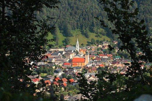 Stein An Der Enns, Austria, Vista, Village, Churches