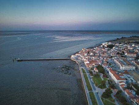 Aerial, Landscape, City, Litoral, Ocean, Mar, Vista