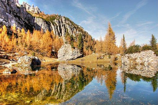 Lago Federa, Dolomites, Landscape, Alpine, Nature, Lake