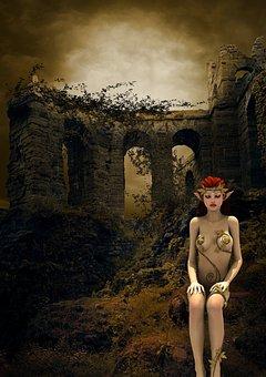 Lonely, Fantasy, Halloween, Surreal, Girl, Eleven