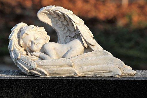 Sleeping Angel, Wings, Spiritual, Statue, Figure