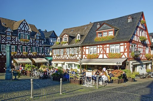 Germany, Braunfels, Historic Center, Marketplace