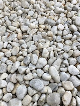 Stones, White, Colors Of Nature, In The Garden