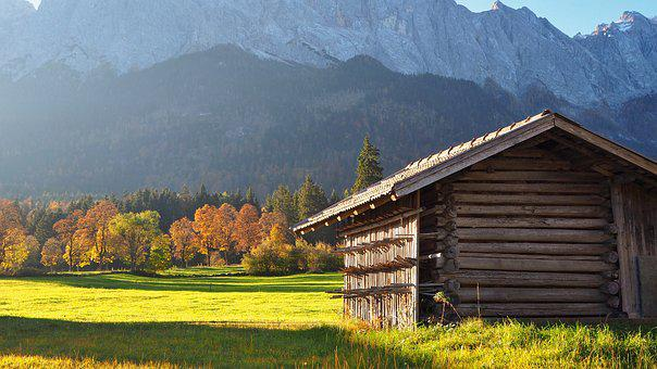 Nature, Landscape, Autumn, Autumn Colours, Hut