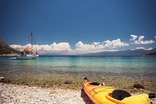 Boat, Beach, Kayak, Landscape, Summer, Shore