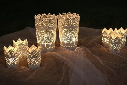 Bright Decorations, Lanterns, Light, Bright, Candle