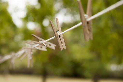 Clothespin, Line, Clothes, Outside, Outdoors