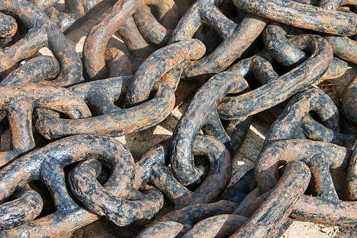 Anchor Chain, Chain, Rusty, Iron, Ship, Metal