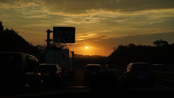 Sunset, Sun, Mood, Sky, Cloud, At Dusk, Orange