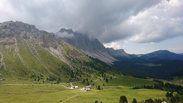 Mountains, Dolomites, Funes, Italy, Nature, Landscape