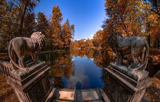 Autumn, Water, Lake, Nature, Leaves, Trees, Mood