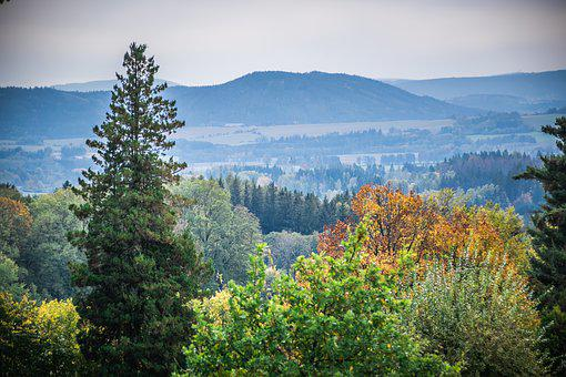 Landscape, Panorama, Mountains, Nature, Scenic, Trees