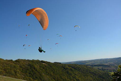 Panoramic Views, Paragliding, Paragliders, Aircraft