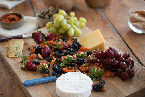 Cheese Platter, Cheese Board, Cheese, Platter, Grapes