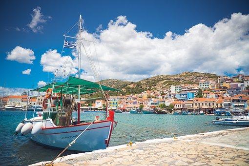 Boat, Village, Water, Sea, Ship, Fishing, Coast