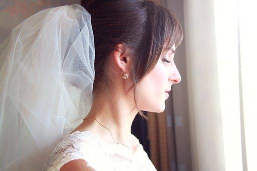 Wedding, Morning, Bride, Thoughts, Girl, Fata