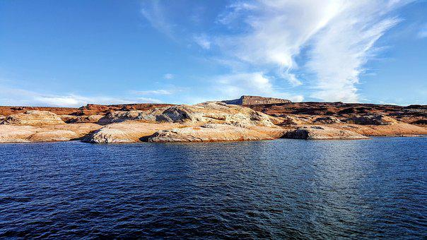 Lake Powell, St, George, Utah, Desert, Trails, Red Rock