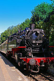 Steam Locomotive, Railway, Train, Historically