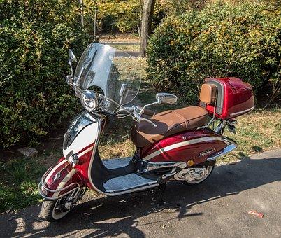 Motor Scooter, Roller, Vehicle, Vespa