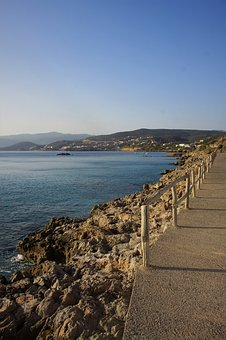 Greece, Sea, Coast, Water, Summer, Holidays, Blue