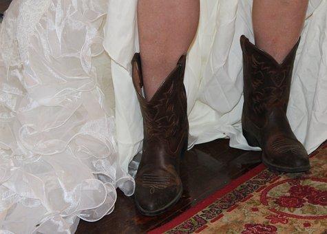 Cowboy Boots, Cowgirl, Wedding, Western Wedding, Bride