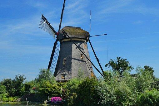 Windmill Kinderdijk, The Netherlands