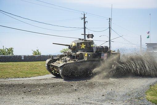 Tank Fest, Everett, 1943, M3a1 Stuart, Tank Under Way