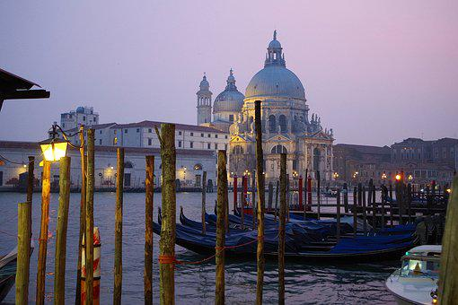 Venice, Channel, Gondolas, Italy, Architecture