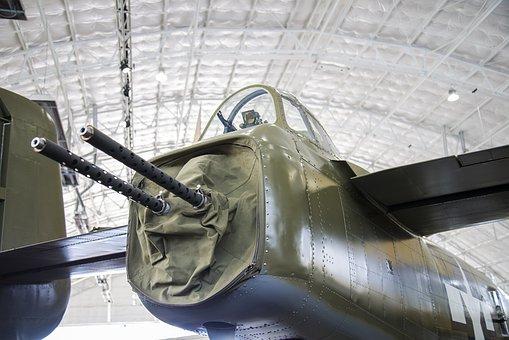 Aft Machine Gun, B-25, Mitchell, Aircraft, Antique