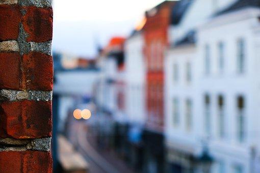 Street, Wall, City, Brick, Breda, Old, Buildings