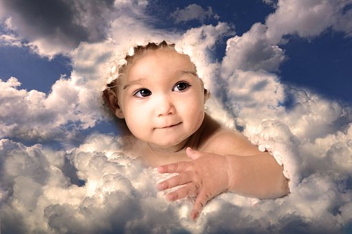 Baby, Clouds, Sky, Cute, Birth, Dream, Christmas, Sweet