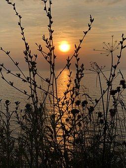 Sunset, Sea, Sky, Coast