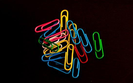 Paper Clip, Color, Colour, Office, Colorful, Design